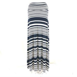 Renee C Maxi Skirt Striped Stretch Pull On S